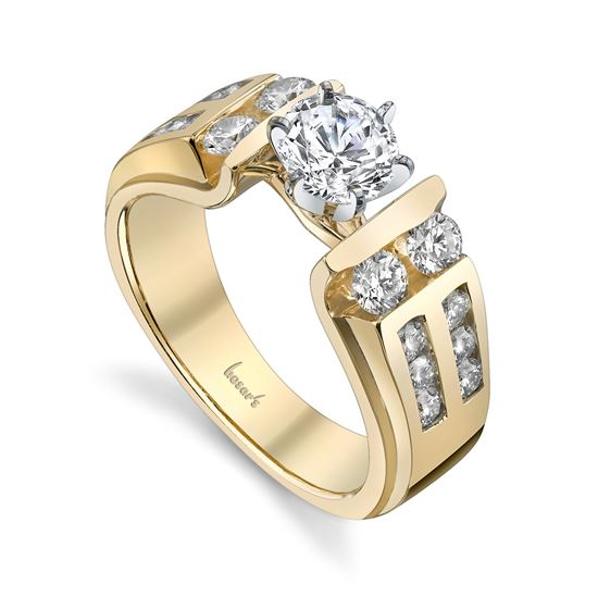 14kt Yellow Gold Classic Diamond Engagement Ring
