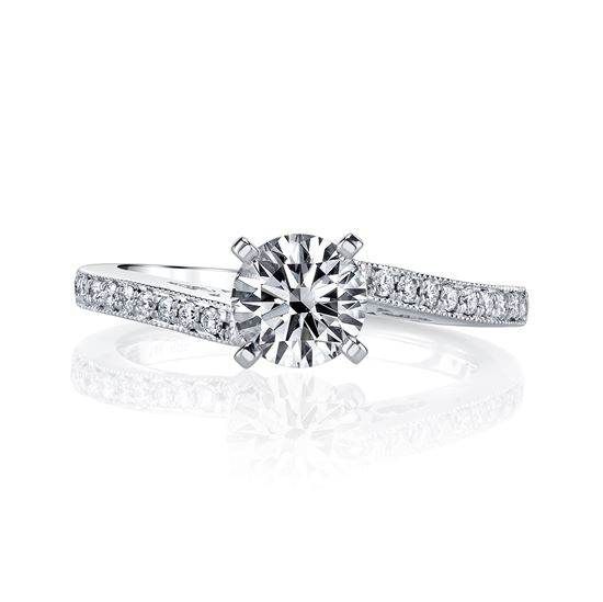 14kt White Gold Classic with a Twist Engagement Ring