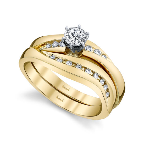 14kt Yellow Gold Curved Channel Set Engagement Ring