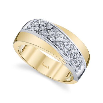 14kt Yellow and White Gold Pave Set Diamond Band