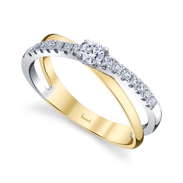 14kt White and Yellow Gold Modern Diamond Ring