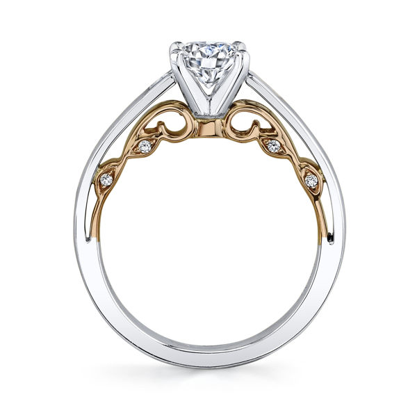 14kt White and Rose Gold Expressive Engagement Ring