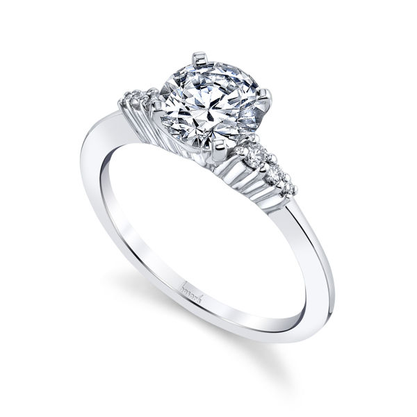 14kt White Gold Understated Diamond Engagement Ring