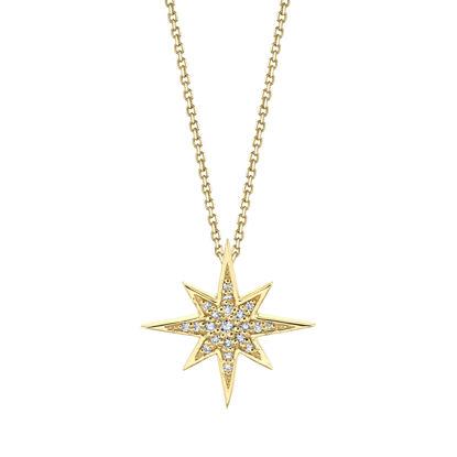 14kt Yellow Gold Diamond North Star Pendant