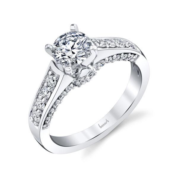 14kt White Gold Dimensional Diamond Engagement Ring
