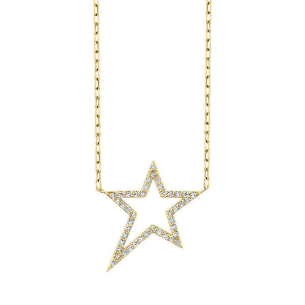 14kt Yellow Gold Diamond RockSTAR Necklace