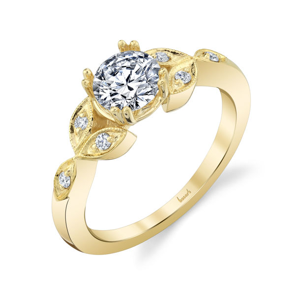 14kt Yellow Gold Natural Vintage Diamond Engagement Ring