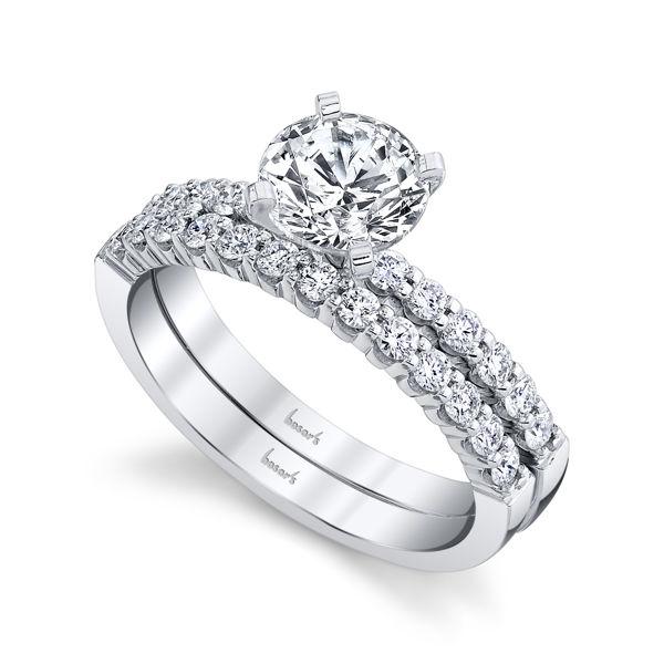 14kt White Gold Shared Prong Diamond Engagement Ring